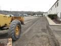 Grading the asphalt millings
